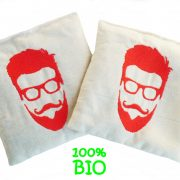 Lot de 2 Bouillottes sèche 100% bio « Barbe Orange «