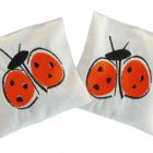 Lot de 2 Bouillottes sèche 100% bio « Coccinelle orange «